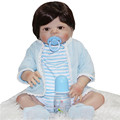 55cm real silicone reborn dolls for sale boy reborn babies magnetic mouth brown eyes children gift
