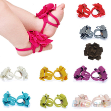 Top Baby Shoes Flower Design Baby Prewalker Infant Shoes Cotton Barefoot Sandals 76Y4(China (Mainland))