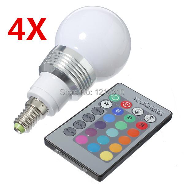 LED RGB bulb E14 9W  AC 85-265V rgb led Lamp with Remote Control multiple colour led rgb lamp<br><br>Aliexpress
