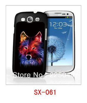 3d Three-Dimensional Color painting for Samsung 9300 cell phone case wolf Free Shipping