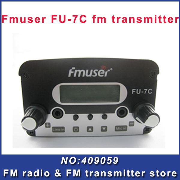 FREE SHIPPING CZH 7w fm transmitter broadcast transmitter FM radio station cheap portable wireless station(China (Mainland))
