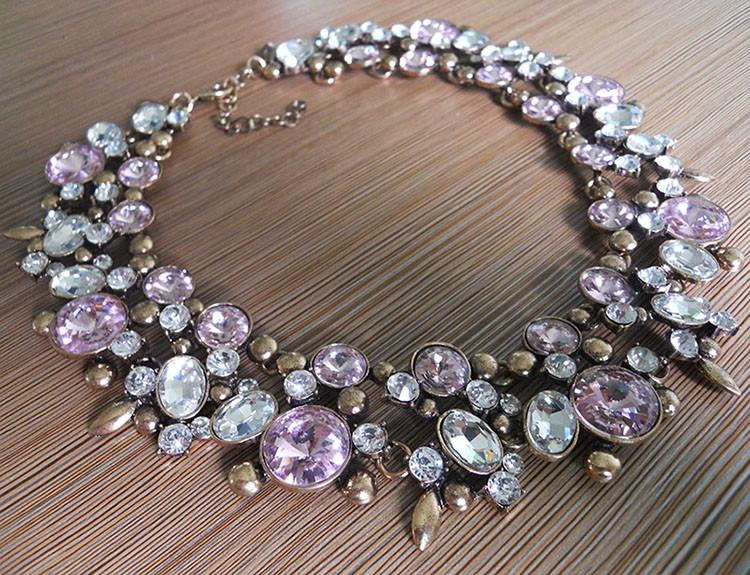 HTB1q.C0LXXXXXctXFXXq6xXFXXXI - PPG&PGG2017 New Luxury Women Imitation Pearl Jewelry Crystal Statement Necklace Choker Collar Lady Fashion Accessories