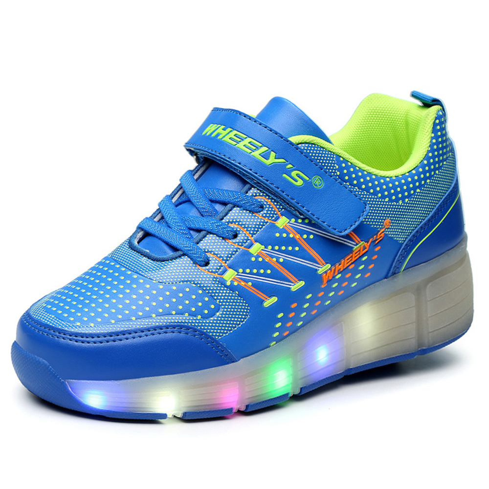 New summer Children Heelys wheelys shoes Girls Boys Led Light Sneakers Kids Roller Skate Shoes With Wheel Zapatillas Con Ruedas(China (Mainland))
