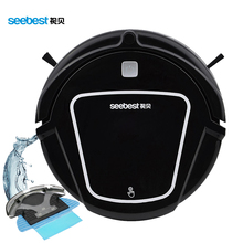Automatic Robotic Vacuum Cleaner for Home with LCD Remote Control, Automatic Water Tank Wet Mopping Clean Robot, Seebest D730(China (Mainland))