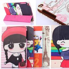 """Free Screen Film Protectors + T1-A21W Case New Cute cartoon cover case For 9.6"""" Huawei MediaPad T1 10 honor note T1-A23L(China (Mainland))"""
