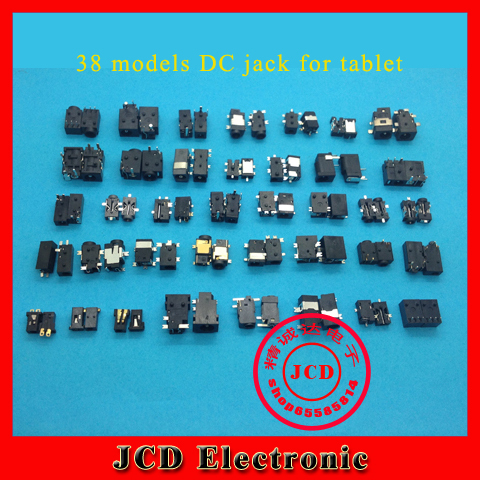 1 lot /38 Models /76pcs Widely Using Power DC Jack Connector, Socket for Laptop Tablet, Mini Pad(China (Mainland))