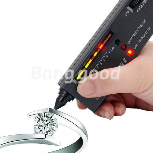 Free Shipping V2 Portable Diamond Gemstone Jewelry Tester Selector Tool Accurate And Reliable Reading LED Audio + Bag Platform(China (Mainland))
