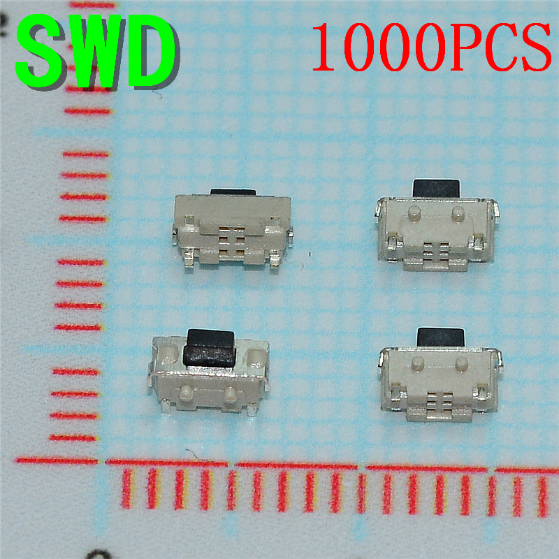 1000PCS SMT 2X4X3.5MM Tactile Tact Push Button Micro Switch Momentary MP3 MP4 MP5 Tablet PC #DSC00391(China (Mainland))