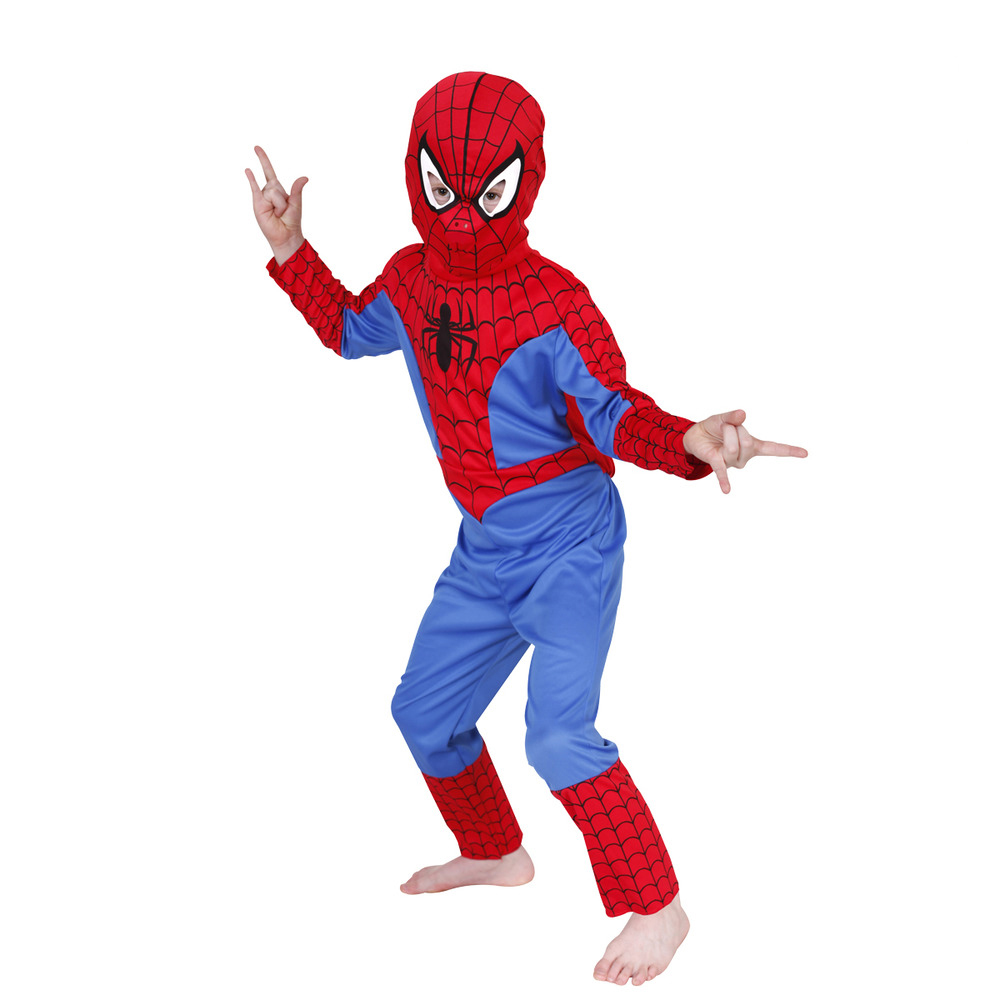 Hot Sale Marvel Comic Classic Spiderman Child Costume Kids boys fantasia Halloween fantasy superhero carnival party Fancy Dress(China (Mainland))