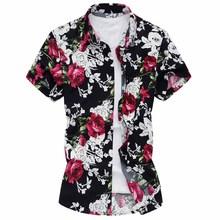 2016 Summer Luxury Brand Shirt Men Short Sleeve Slim Shirt Casual Floral Men Shirts Z6579(China (Mainland))