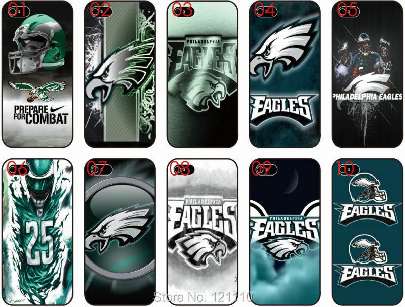 NFL Football Philadelphia Eagles team logo case White Hard Case Phone Skin Cover For Apple iphone 4 4S 5 5S 5C 6 6S plus(China (Mainland))
