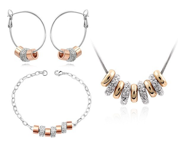 African Beads Jewelry Set Made With Swarovski Elements Crystal Earrings Bracelet Necklace New Brand Sets Body Jewellery STZ0038(China (Mainland))