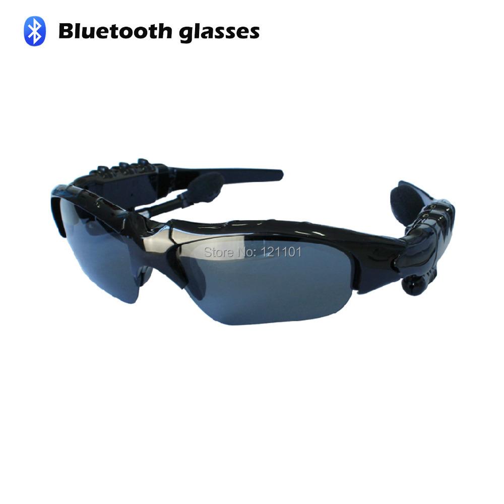 Sports Sunglasses Wireless Bluetooth Headset stereo earphone Music Foldable Headphone universal for all phone free shipping(China (Mainland))