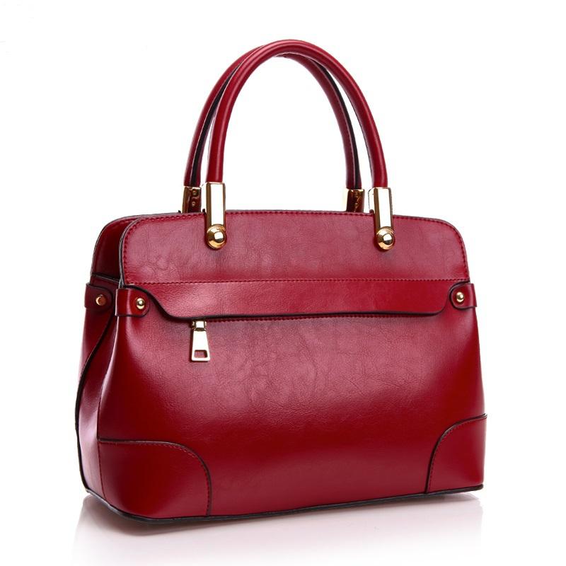 2015 New Fashion Genuine Leather Bag Ladies Bags Handbag Women Tote Bag Crossbody Bag Shoulder Bag Famous Brand 4 Colours 1613(China (Mainland))