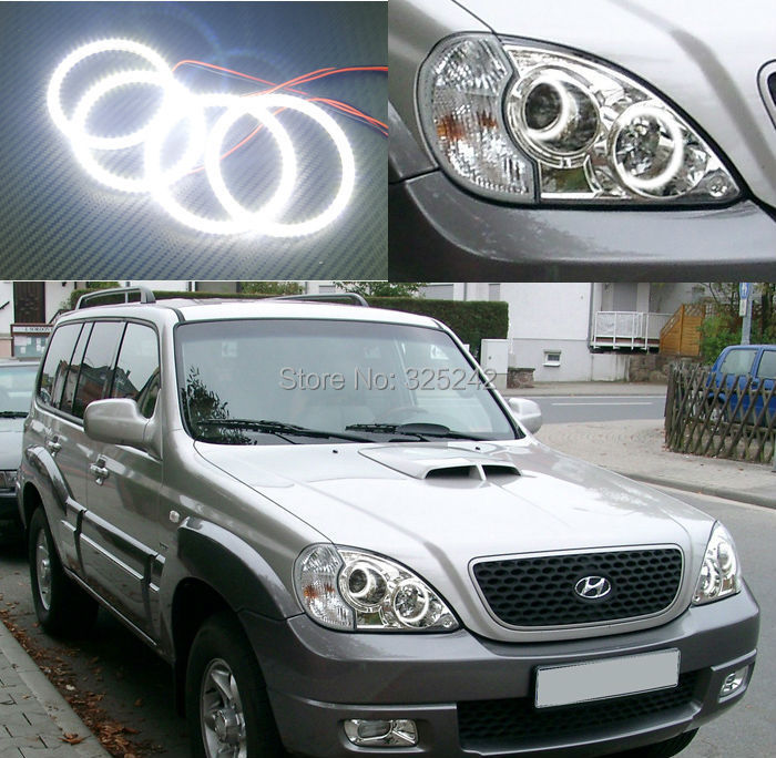 For Hyundai Terracan 2001-2007 Excellent angel eyes Ultrabright illumination smd led Angel Eyes Halo Ring kit<br><br>Aliexpress