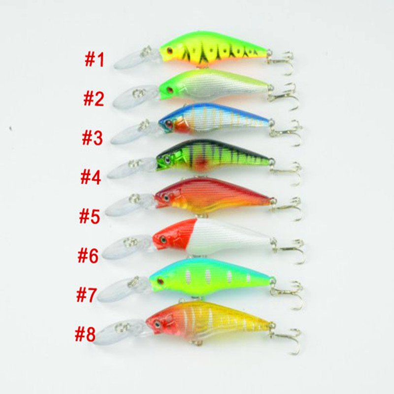 10pcs/lot MI030 fishing lures 9cm Hard Bass bait fishing Shanghai HENGJIA Minnow hard environmental protection 6.6g(China (Mainland))