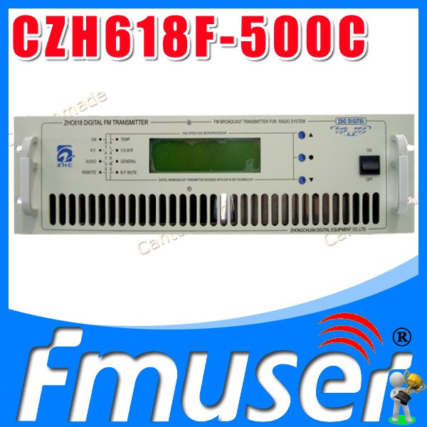 CZH618F 500W fm radio broadcast transmitter Small Size PLL stereo transmitter fm radio staion equipment 87-108MHz(China (Mainland))