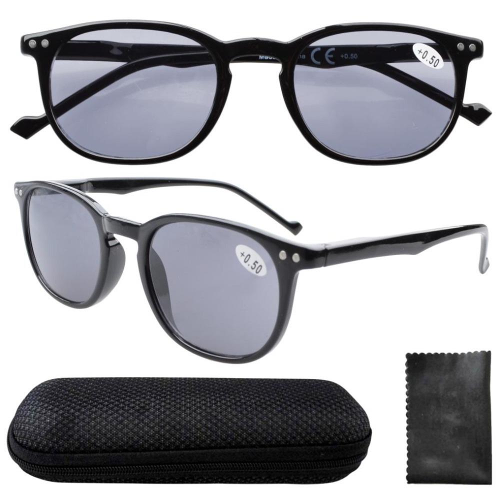 Eyekepper R065-Grey Lens Spring Hinges 80's Classic Wayfarer Reading Glasses Includes Sun Readers 0.0/+0.5/.../4.0(China (Mainland))