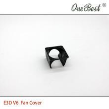 2Pcs/lot E3D V6 fan cover 3D printer DIY injection molding cooling POM plastic black fan cover use for 3010 fan Free shipping