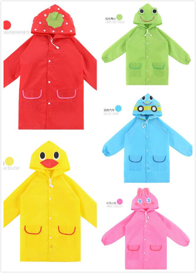 waterproof animal artoon rainwear child rainsuit kid rain equipment(China (Mainland))