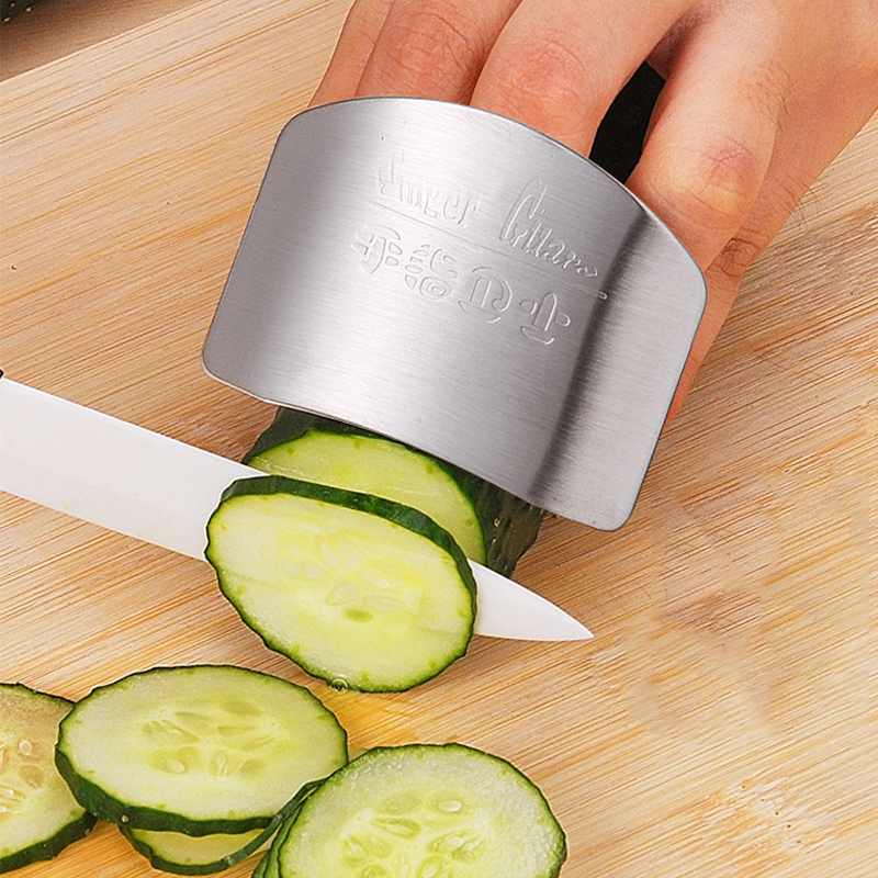 Stainless Steel Finger Hand Protector Guard Knife Slice Chop Shield Kitchen Cut Safety Cooking Tools(China (Mainland))
