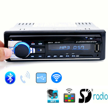 Bluetooth V2.0 Car Stereo Audio Radio Player In-dash Single Din FM Receiver Aux Input Receiver USB SD MP3 12V Remote Control(China (Mainland))