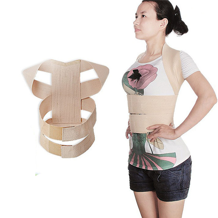 Slouching Posture Corrector Back Braces Body Shaper Belt Shoulder Posture Correction Ladies' Shoulder Squared and Head High T069(China (Mainland))