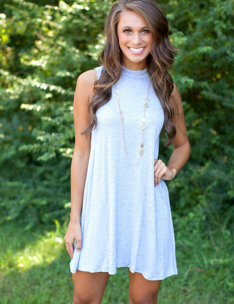 3 colors loose mini dress women t shirt dress sleeveless for Sleeveless dress shirt womens