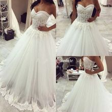 2016 Sweetheart Ball Gown Wedding Dresses Plus Size Lace Wedding Dresses Corset robe de mariage(China (Mainland))