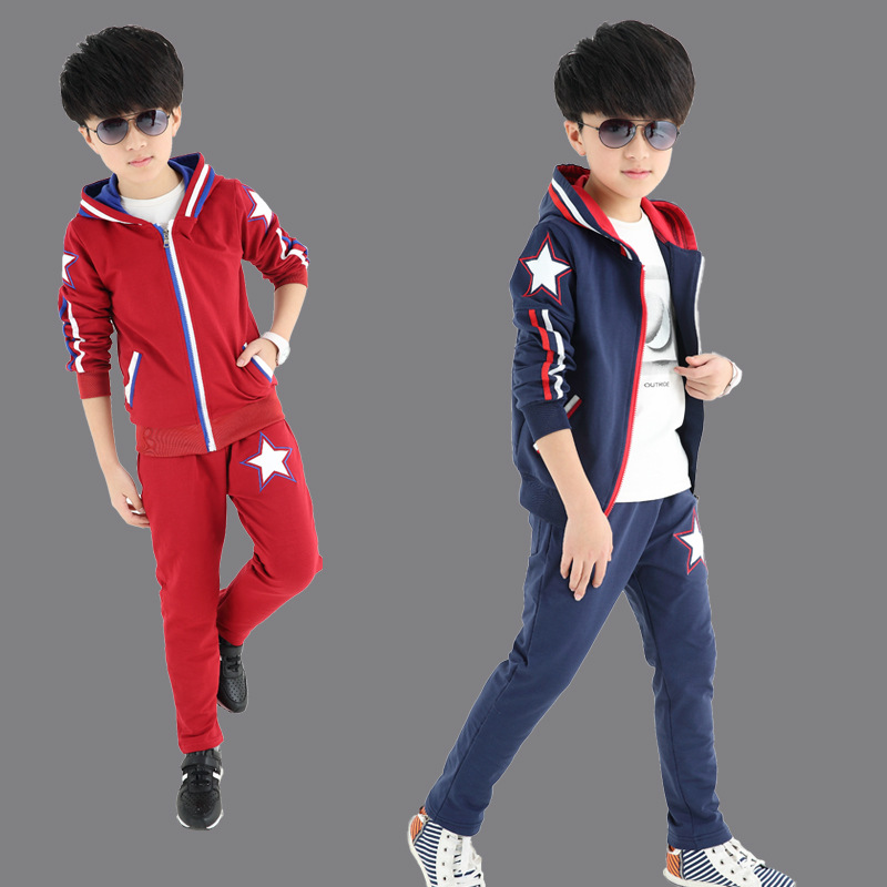 2016 new kids spring cotton two piece children Korean star boy suit factory direct<br><br>Aliexpress