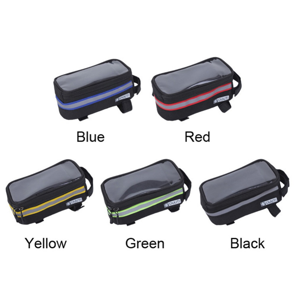 Cycling Bicycle bags panniers Frame Front Tube Bag Cell Phone MTB Bike Touch Screen Bag For xiaomi redmi 3 pro for meizu pro 6(China (Mainland))