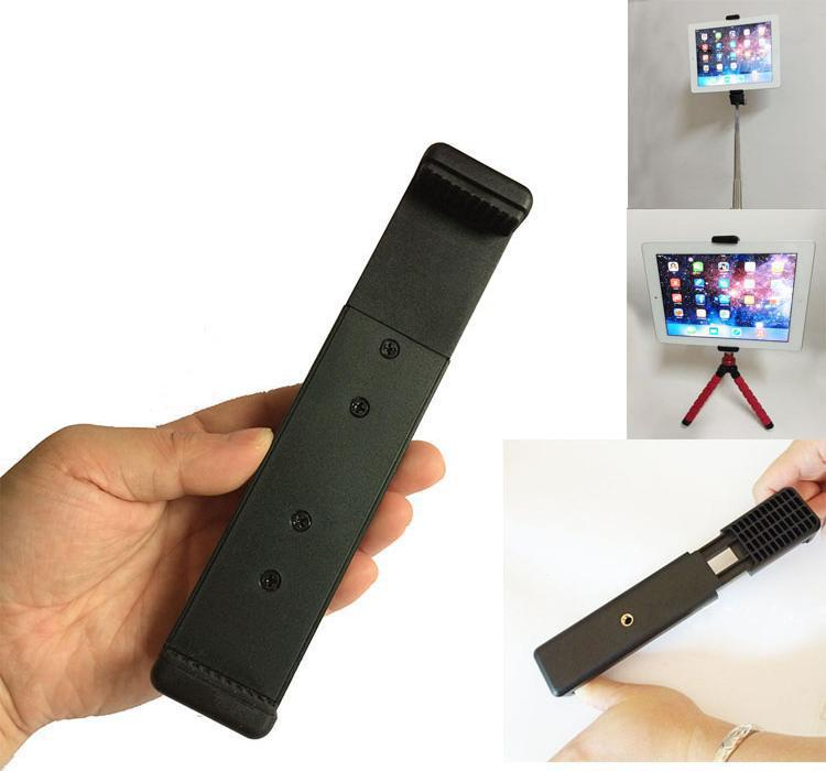 stable double 1 4 screw head tablet pc stick tripod clip mount adapter. Black Bedroom Furniture Sets. Home Design Ideas