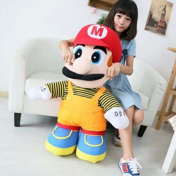 big lovely plush toy Super Mario plush toy elder brother red mario doll birthday gift about 75cm<br>