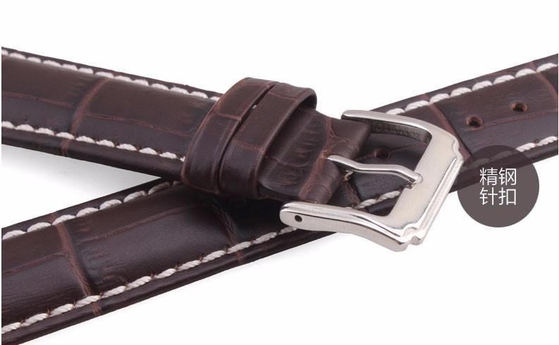 Подлинная италия кожи теленка ремешок для мужчин и женщин 18 / 19 / 20 / 21 / 22 мм черный коричневый