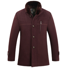 Autumn winter stand collar men blends clothing high quality comfortable keep warm solid brief male coat long sleeve male tops (China (Mainland))