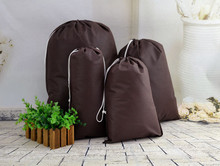 Protable Lightweight Travel Shoe Storage Bag Non-woven Bag Cover Dust 30pcs/lot