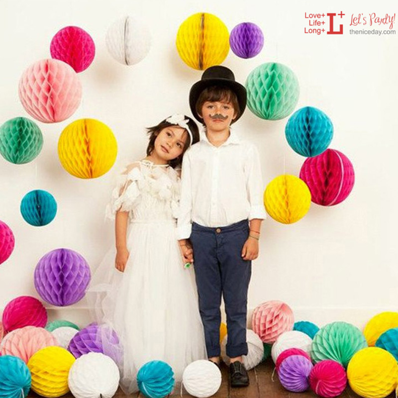 TH 50pcs Tissue Paper Flowers Balls Poms 10 inch Lantern For Birthday Party Wedding Home Decorations Baby Showers Party Supplies(China (Mainland))