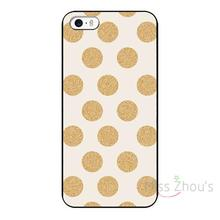 For iphone 4/4s 5/5s 5c SE 6/6s 7 plus ipod touch 4/5/6 back skins mobile cellphone cases cover Glittering Gold Dots Custom