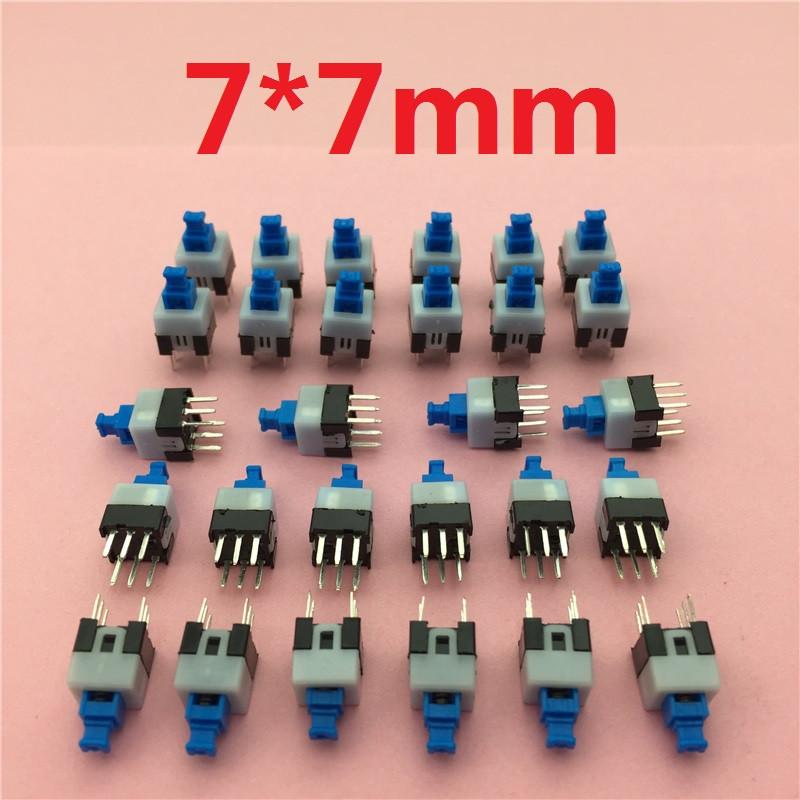 Настенный переключатель 30pcs/lot 7x7x12mm 6 Pin DPDT G64