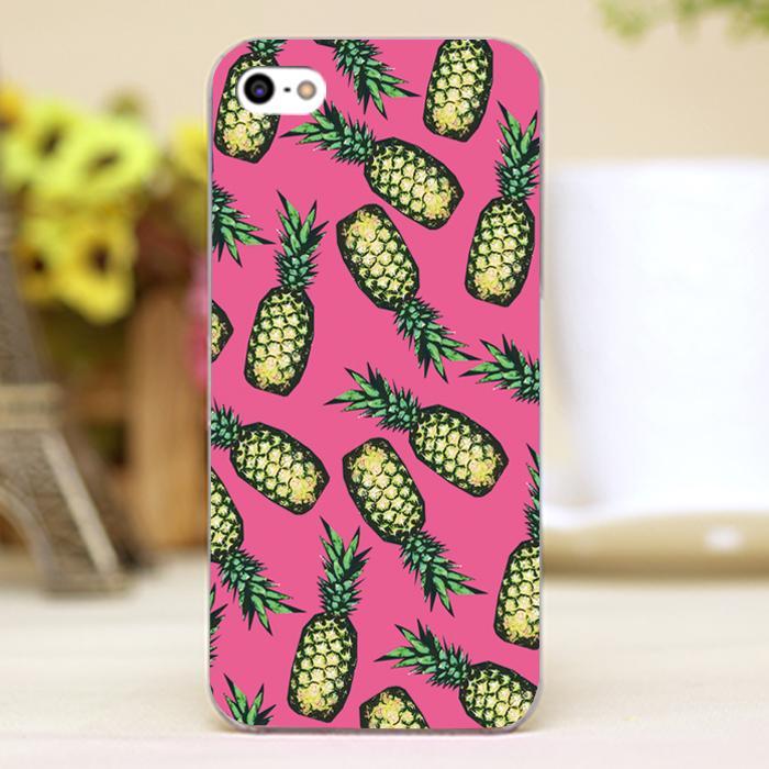 Pineapple Pattern Design Customized transparent font b case b font cover cell font b mobile b