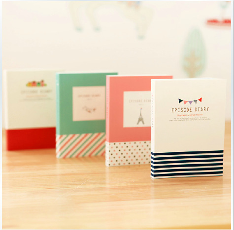 4colors mini size notebook personal diary book cute notebook planner agenda kawaii stationery kawaii office and school supplies(China (Mainland))