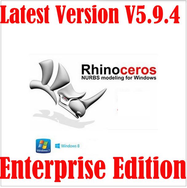 Latest Version Rhinoceros 5.0 Rhino V5.9.4 SR9 Enterprise Edition Software For Win 32&64 Bit Multi-Language(China (Mainland))