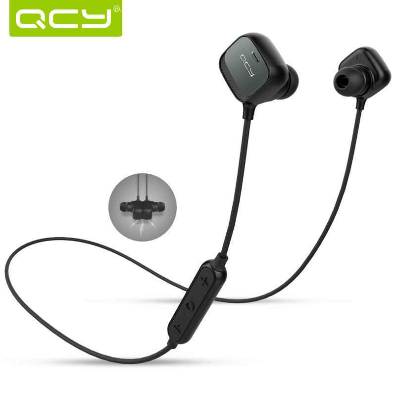 Original QCY QY12 Bluetooth 4.1 Wireless Headset/Headphone w/ Smart Magnet Function Headphones Microphone Sport Earbuds/Earphone<br><br>Aliexpress