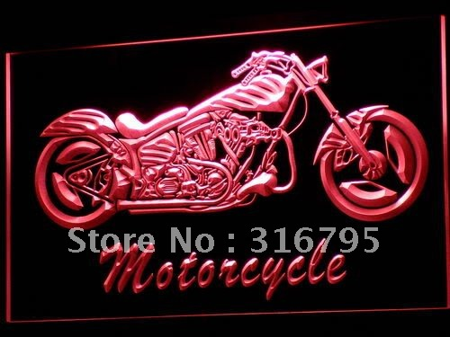 i642-r Motorcycle Bike Sales Services LED Neon Light Sign(China (Mainland))