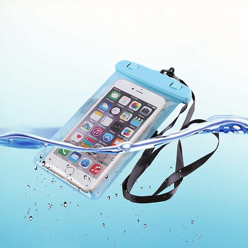 For iphone 6s 6 soft clear PVC Waterproof phone pouch case for LG G5 G4 G3 underwater bags pocket for Huawei Ascend P9 lite P8(China (Mainland))
