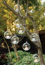 12PCS/Lot hanging air plant glass terrariums with 2 holes ,succulent indoor planters, glass flower pots,home decor(China (Mainland))