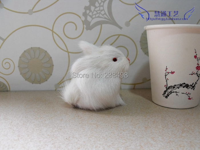 Free Shipping~Small animal home decoration child baby toy dolls rabbit small rabbit 1pcs~ 1/12 dollhouse miniatures PET(China (Mainland))