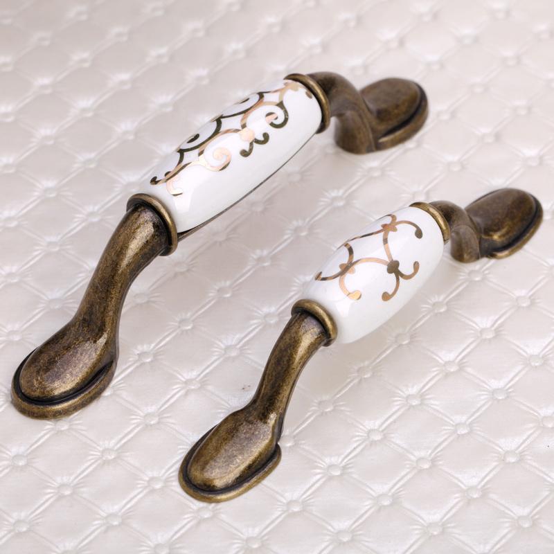 antique brass porcelain furniture drawer handles kitchen hex knob natural brass brass drawer pulls copper and