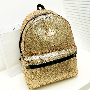 New Stylish 2014 Fashion Celebrity Crown embroidered paillette school backpack for girls Lady Sequins School Bag<br><br>Aliexpress