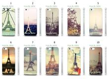 Mobile Phone Cases Wholesale 10pcs/lot Eiffel Tower Design Protective White Hard Case For Iphone4 4S Free Shipping